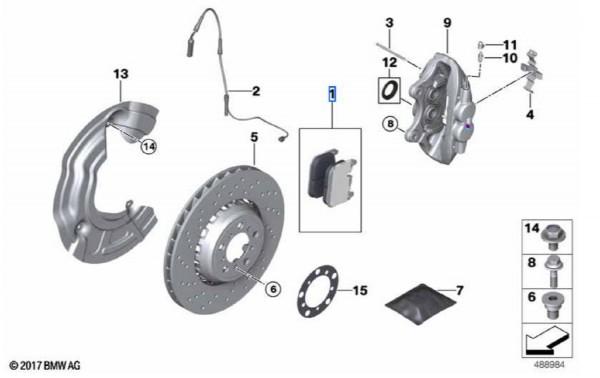 BMW Reparatursatz Bremsbeläge VA M2 F87 M3 F80 M4 F82 F83