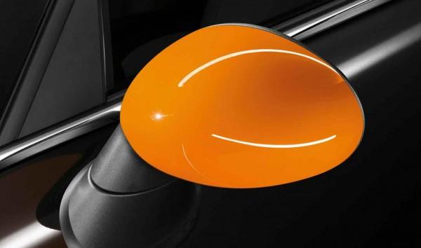 """MINI Satz Spiegelkappen """"Orange"""" R55 R56 R57 R58 R59 R60"""