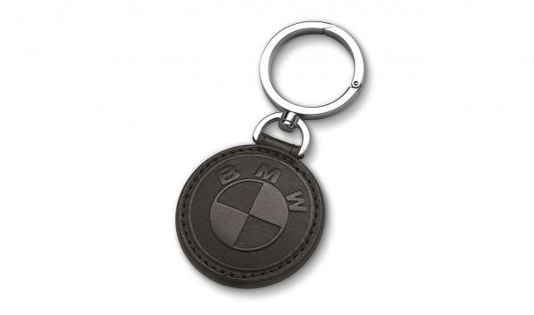 BMW Schlüsselanhänger Leder schwarz