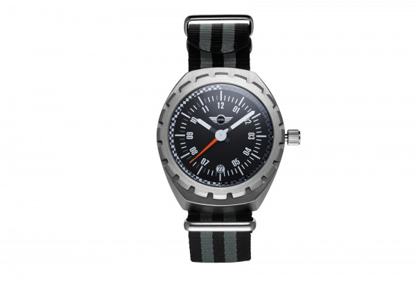 MINI Speedometer Watch Silver inkl. Wechselarmband unisex
