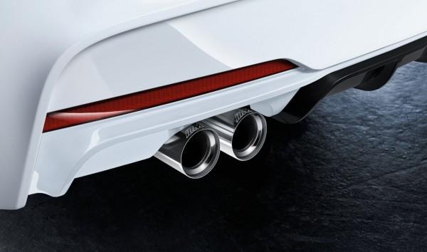 BMW M Performance Satz Endrohrblenden Chrom Active Sound F-Serie Diesel