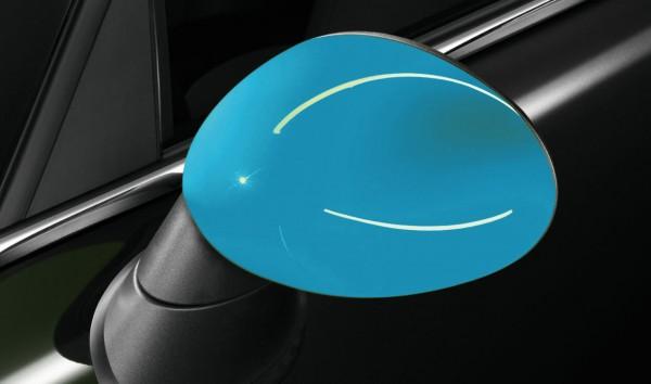 """MINI Satz Spiegelkappen """"Blue"""" R55 R56 R57 R58 R59 R60"""