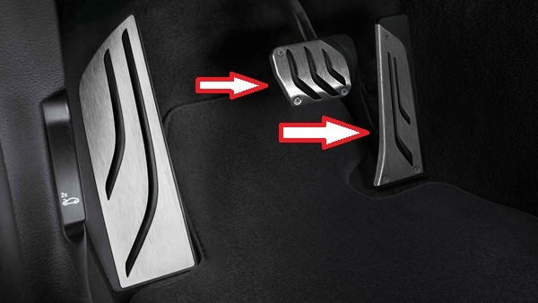 BMW M Performance Pedalauflagen Edelstahl F-Serie Automatikgetriebe