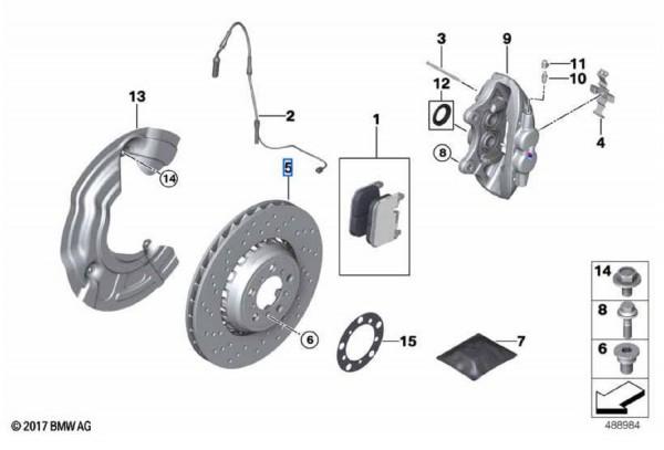 BMW Bremsscheiben VA (380x30mm) Satz gelocht M2 F87 M3 F80 M4 F82 F83